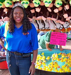"Queen ""B"" of the Crabtree Amusements Lucky Ducky"